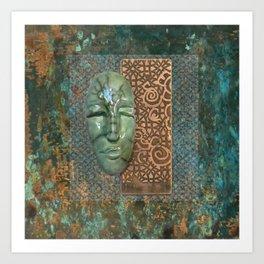 #2 Face & Metal Digital Collage Art Print