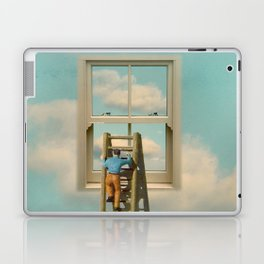 Window cleaner in the sky 02 Laptop & iPad Skin