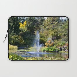 Fountain at VanDusen Botanical Garden Laptop Sleeve