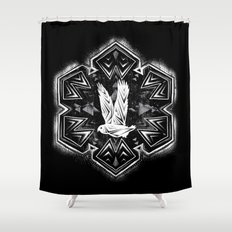 Snowy Owl Flake Shower Curtain
