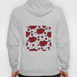 Heart background Hoody