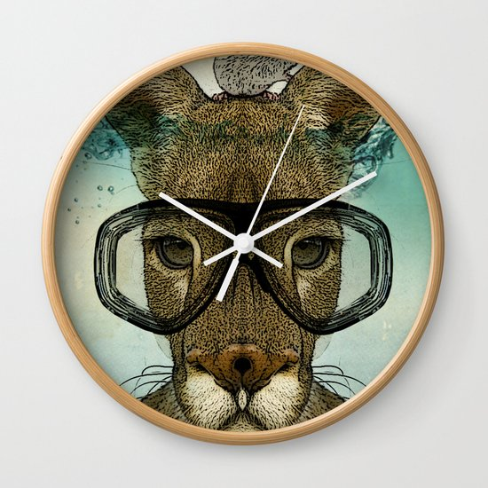 Skuba Roo and a white mouse Wall Clock