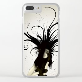 girl in the hat Clear iPhone Case