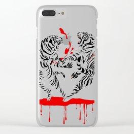 Tora Tora! // (tiger fight) Clear iPhone Case