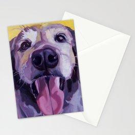 A Dog's Joy Golden Retriever Portrait Stationery Cards