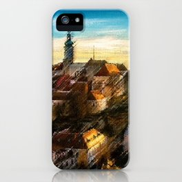 Czechoslovakia Sunday Hilltop Village Landscape by Jeanpaul Ferro iPhone Case