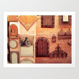 Wall of Mirrors in Morocco Art Print
