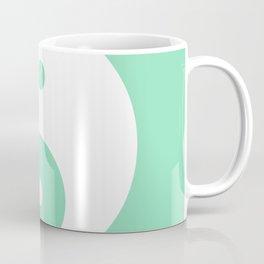 Yin & Yang (White & Mint) Coffee Mug