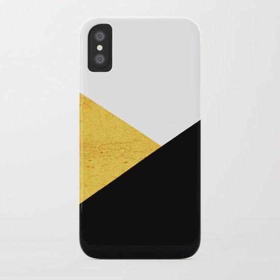 Gold & Black Geometry iPhone Case