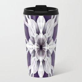 Elegant Purple Fractal Travel Mug