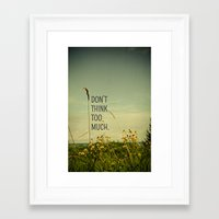 font Framed Art Prints featuring Travel Like A Bird Without a Care by Olivia Joy StClaire