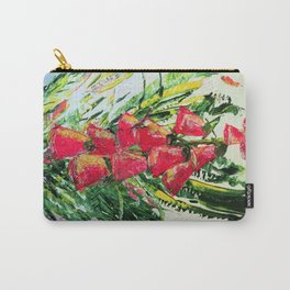 red foxglove Carry-All Pouch