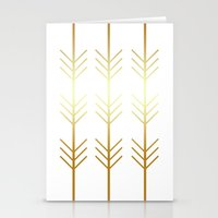 stay gold Stationery Cards featuring stay gold by Reckless Crush