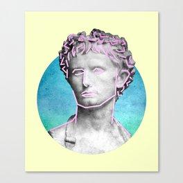 Aesthetic 90's Retro Vaporwave Augustus statue Canvas Print