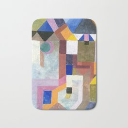 COLORFUL ARCHITECTURE, by Paul Klee Bath Mat