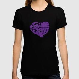 GIVE KINDNESS & LOVE - purple T-shirt