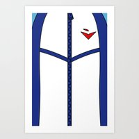 iwatobi Art Prints featuring Free Iwatobi Swim Club Team Jacket by Bunny Frost