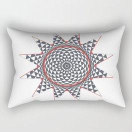 Geometric Eye Into a Star Rectangular Pillow