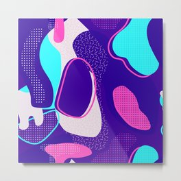 Mint and Lavender Abstracts Collection, Pattern 1 Metal Print