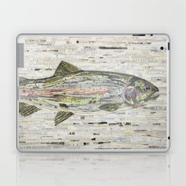Rainbow Trout Collage (v2) by C.E. White Laptop & iPad Skin