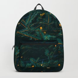 Evergreen and Golden Lights (Color) Backpack