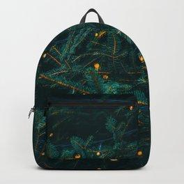 Evergreen and Golden Lights (Color) Backpack