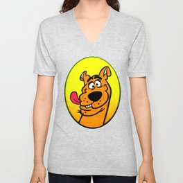 dog scooby Unisex V-Neck