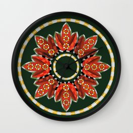 Ring Around the...buds and leaves Wall Clock