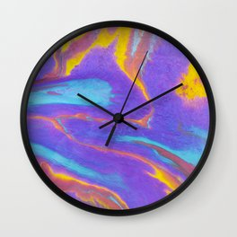 Sweetness 0017- Iridescent Fluid Painting Wall Clock