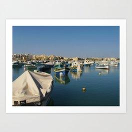 European Boats Art Print