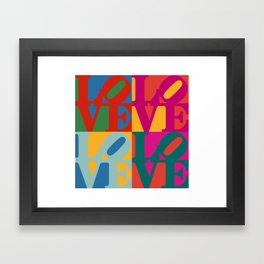 Love Pop Art Framed Art Print