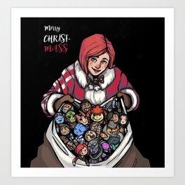 Merry ChristMass Effect Art Print