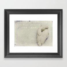 february. Framed Art Print
