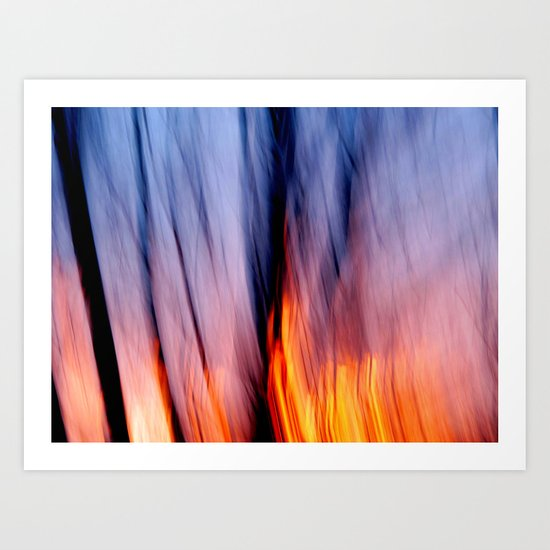 Out of the Blue into the Fire #I Art Print