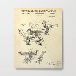 CAMERA BLUEPRINT Metal Print
