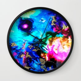 abstract cosmic blue Wall Clock