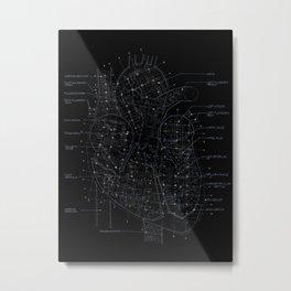 Chambers in BW Metal Print