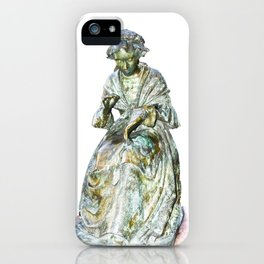 The Leics Seamstress Statue iPhone Case