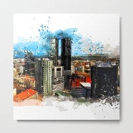 Tallinn city panorame, Estonia Metal Print