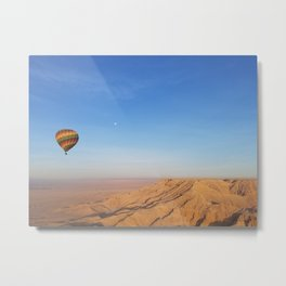 Floating over the Valley of the Kings Metal Print