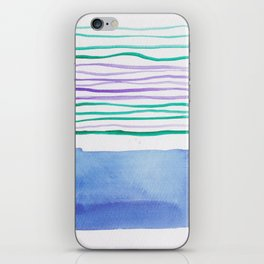 21   |181026 Lines & Color Block | Watercolor Abstract | Modern Watercolor Art iPhone Skin