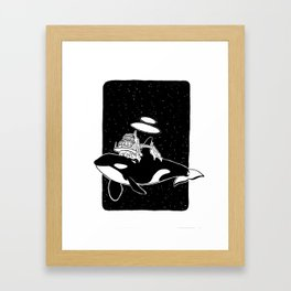 Space orca Framed Art Print
