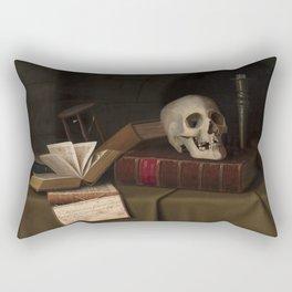 "Memento Mori, ""To This Favour"" by William Michael Harnett Rectangular Pillow"