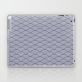 Japanese Koinobori fish scale Delft Blue Laptop & iPad Skin