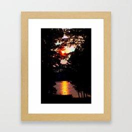 Hidden Lake Sunset Framed Art Print