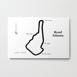 RennSport Shrine Series: Road Atlanta Edition Metal Print