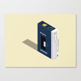 Walkman 80's Canvas Print
