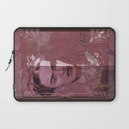 Frida Kahlo - between worlds - red Laptop Sleeve