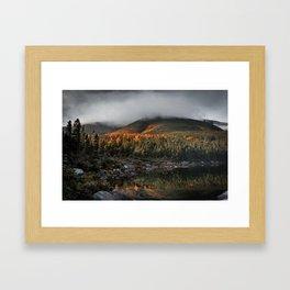 Mount Katahdin in Clouds Framed Art Print