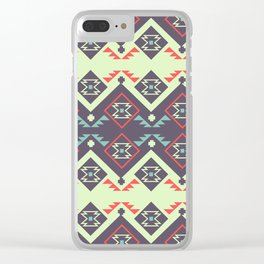 Tribal space Clear iPhone Case
